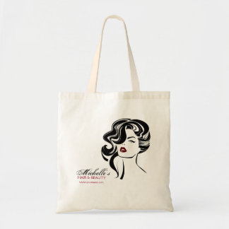 Lovely girl with wavy hair Makeup Icon Tote Bag