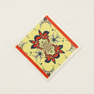Lovely golden red simple personalized creamy art disposable napkin