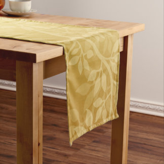 Lovely Golden  Vine Short Table Runner