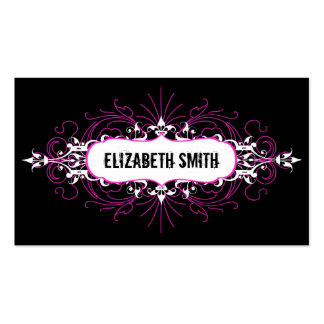 Lovely Gothic Business Card Pink/Black