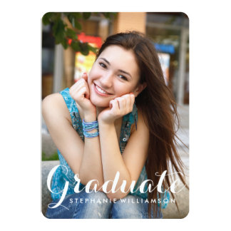 Lovely Graduate Photo Graduation Party Card