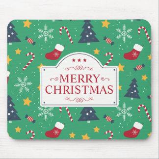Lovely Green Christmas Ditsy | Mousepad