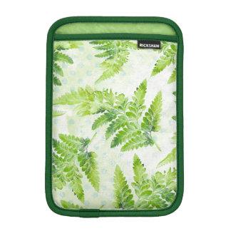 Lovely Green Fern Botanical Watercolor Pattern iPad Mini Sleeve
