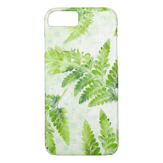 Lovely Green Fern Botanical Watercolor Pattern iPhone 8/7 Case