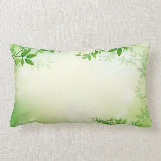 Lovely Green Leaves Frame | Lumbar Pillow