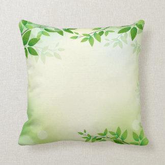 Lovely Green Leaves Frame  | Throw Pillow