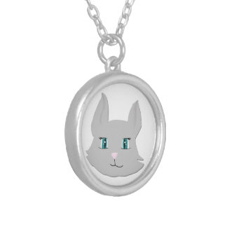 Lovely grey cat | silver plated necklace
