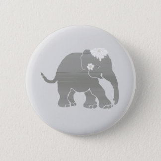 Lovely Grey Vintage Elephant Bride 2 Inch Round Button