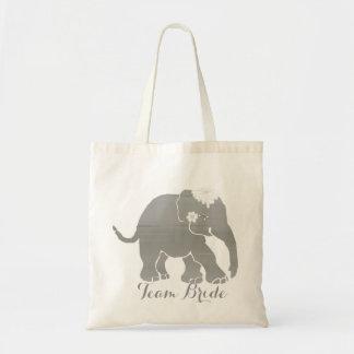 Lovely Grey Vintage Elephant Bride Tote Bag