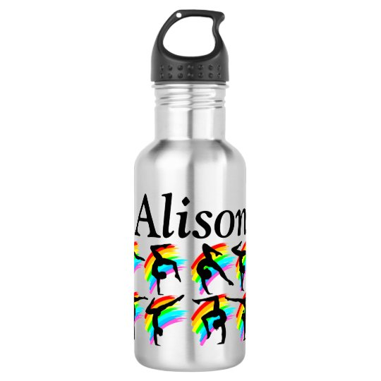 LOVELY GYMNAST PERSONALIZED WATER BOTTLE