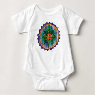 Lovely hand painted mandala Baby Jersey Bodysuit, Baby Bodysuit
