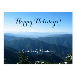 Lovely Happy Holidays from Great Smoky Mountains Postcard