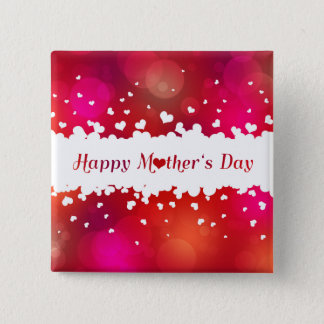 Lovely Happy Mother's Day Hearts - Button