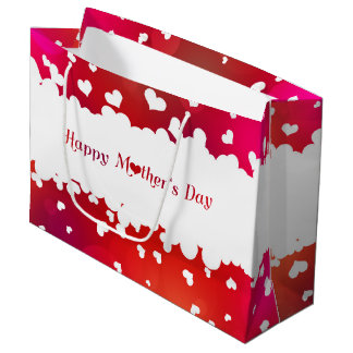 Lovely Happy Mother's Day Hearts - Large Gift Bag