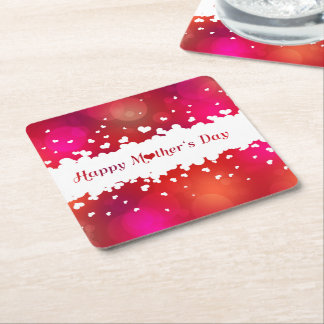 Lovely Happy Mother's Day Hearts - Paper Coaster