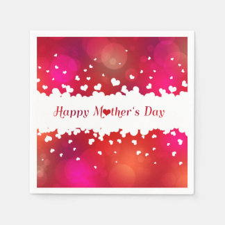 Lovely Happy Mother's Day Hearts - Paper Napkin