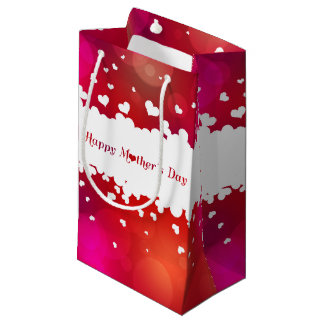 Lovely Happy Mother's Day Hearts - Small Gift Bag