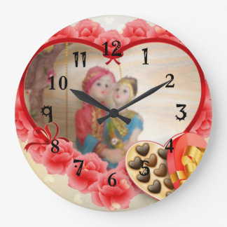 Lovely Heart Chocolates Save the Date Clocks