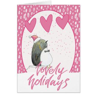 Lovely Holidays | Cute Penguin Christmas Card