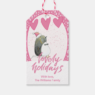 Lovely Holidays | Cute Penguin Christmas Gift Tags