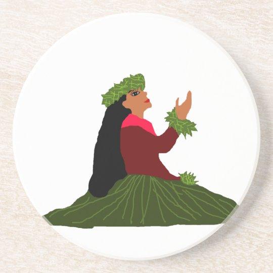 Lovely Hula Wahine (lady) coaster
