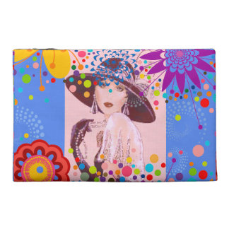 LOVELY IN BLUE - FASHION LADY COSMETIC BAG