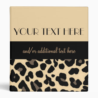 Lovely in Leopard 1 Vinyl Binder