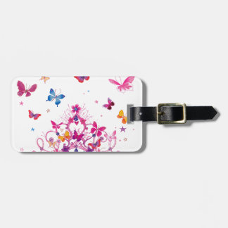 Lovely Infinity Butterfly Luggage Tag