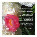 "Lovely Japanese Peony Wedding Invitation 5.25"" Square Invitation Card"