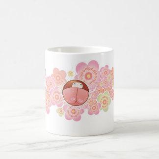 Lovely Japanese Style Mug with Kokeshi Doll