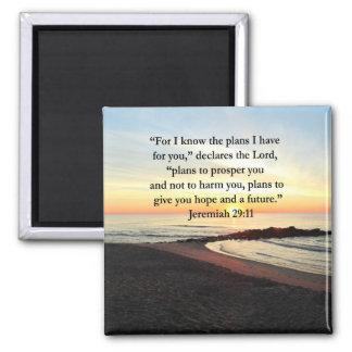 LOVELY JEREMIAH 29:11 SUNRISE PHOTO MAGNET