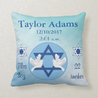 Lovely Jewish Blue and White Star of David Baby Throw Pillow