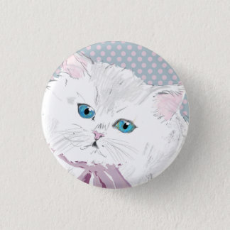 lovely kitty 1 inch round button