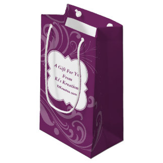 Lovely Labels Purple Elegance Small Gift Bag