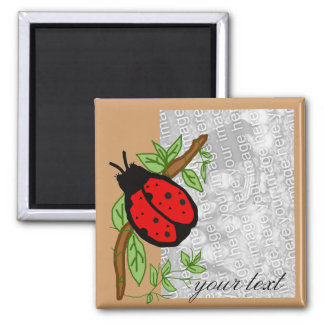 Lovely lady bug, template magnet