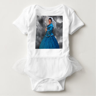 Lovely Lady in blue living in the 1860's Baby Bodysuit