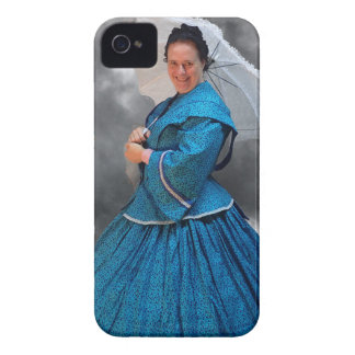 Lovely Lady in blue living in the 1860's iPhone 4 Case