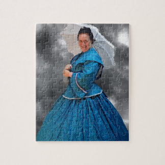Lovely Lady in blue living in the 1860's Jigsaw Puzzle