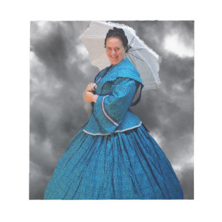 Lovely Lady in blue living in the 1860's Notepad