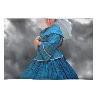 Lovely Lady in blue living in the 1860's Placemat