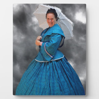 Lovely Lady in blue living in the 1860's Plaque
