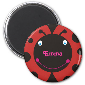 Lovely Ladybug Personalized Name Fridge Magnets