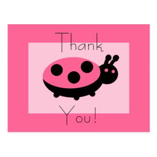 Lovely Ladybug Thankyou Postcards