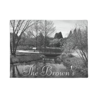 Lovely Lake Black and White Doormat