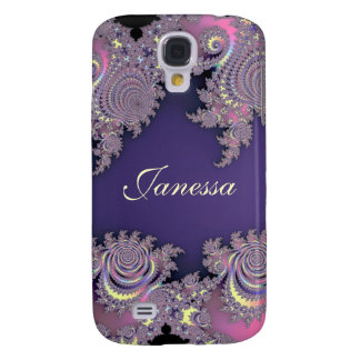 Lovely Lavender Fractal Personalized S4 Case