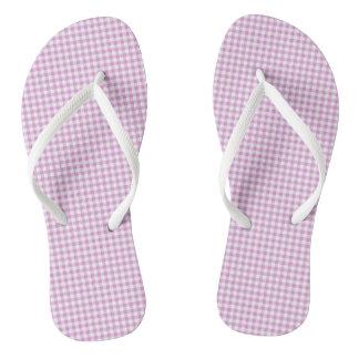 Lovely-Lavender_Gingham-Unisex_Multi-Styles Flip Flops