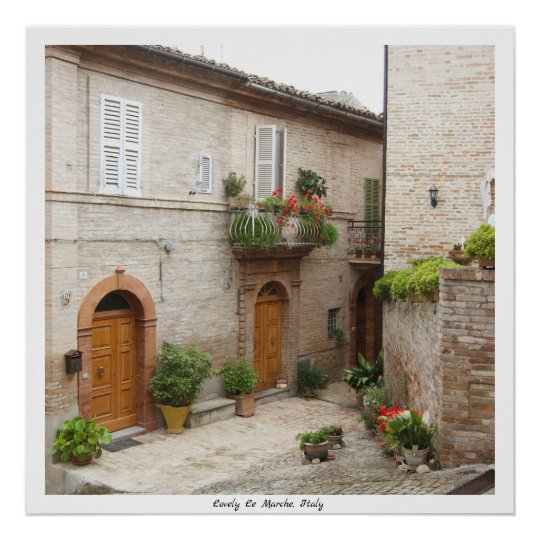 Lovely Le Marche Poster