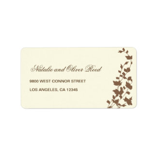 Lovely Leaves Address Label