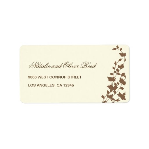 Lovely Leaves Address Label Personalized Address Labels