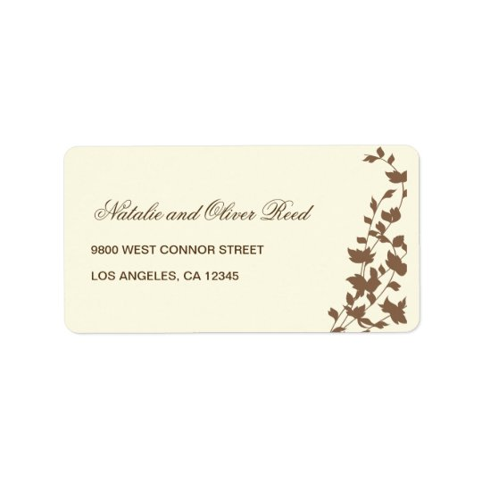 Lovely Leaves Address Label